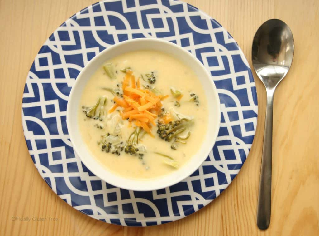 Gluten free cheddar cheese soup