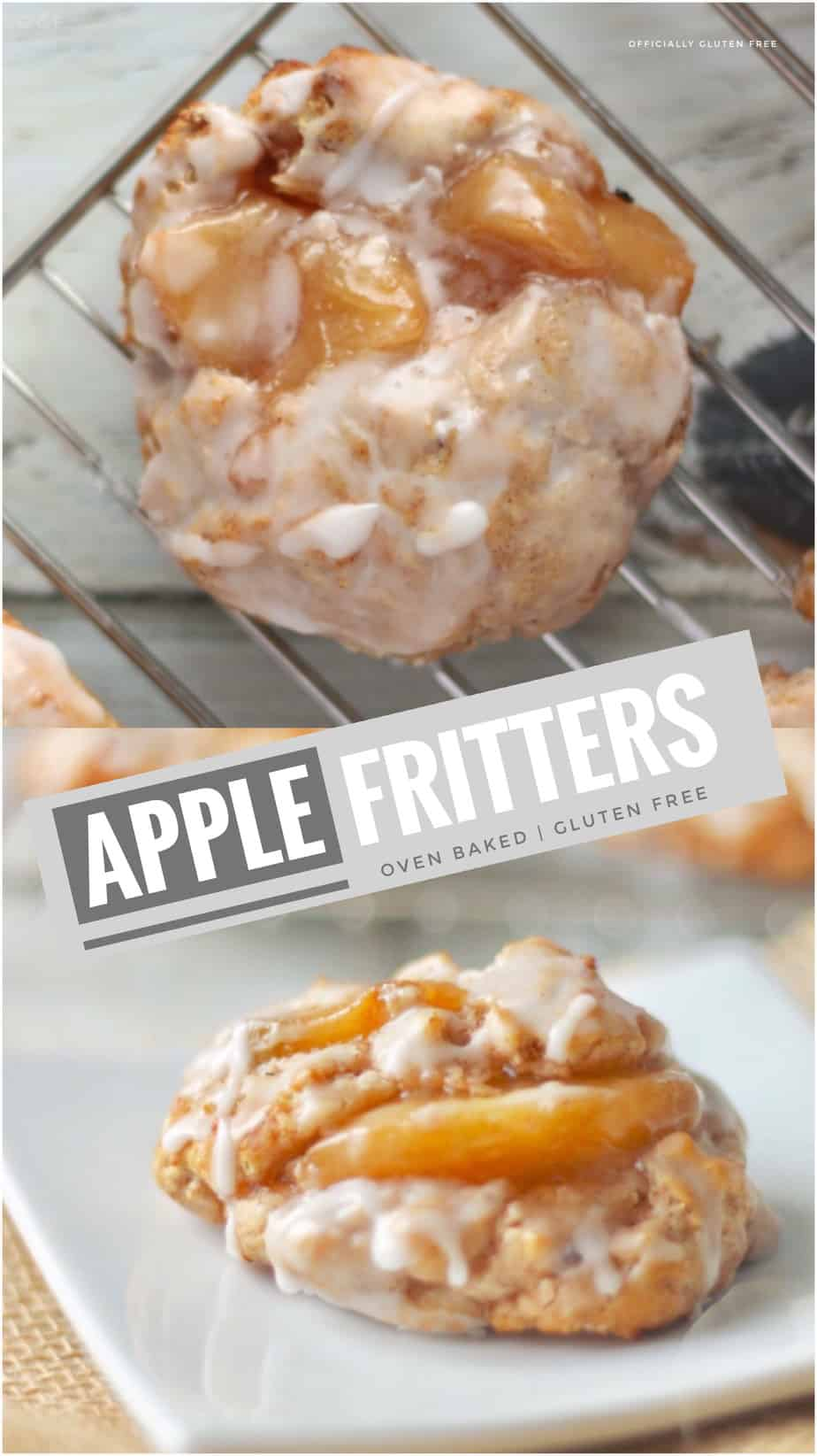 Gluten Free Oven Baked Apple Fritters
