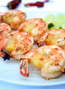 Grilled Chili Lime Pineapple Shrimp