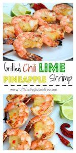Grilled Chili Lime Pineapple Shrimp
