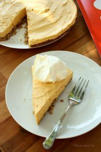 Pumkin Cheesecake with Almond Crumb Crust