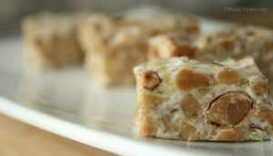 No Bake Almond Toffee Squares