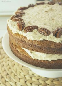 Banana Butterscotch Pecan Cake