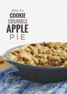 Gluten Free Cookie Crumble Apple Pie