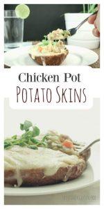 Chicken Pot Potato Skins