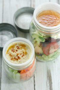 Jar salad Hummus