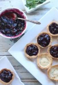 Gluten Free Blueberry Cheesecake Tarts