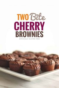Two Bite Cherry Brownies
