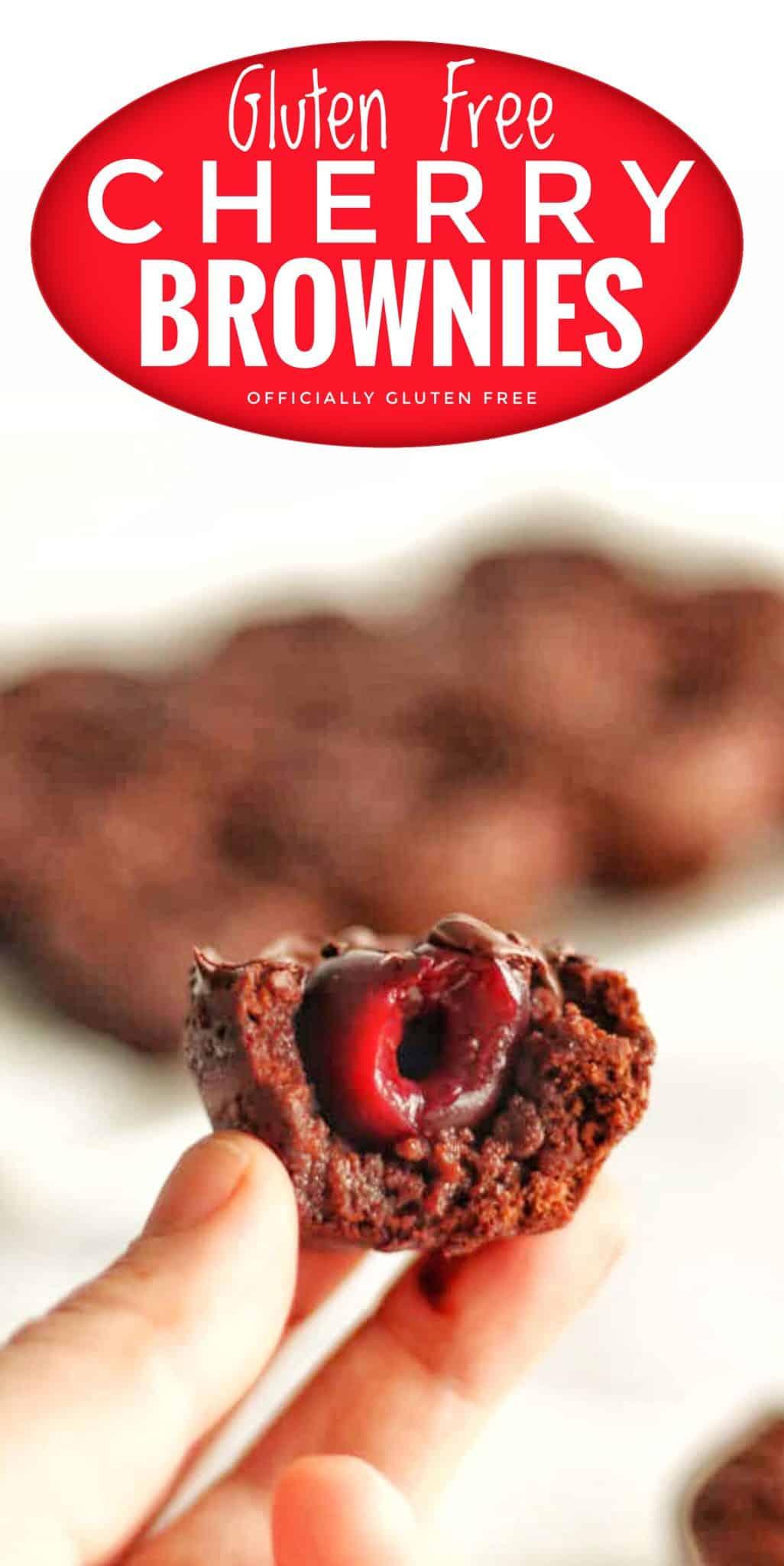 Two Bite Cherry Brownies