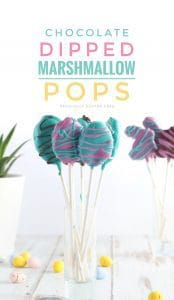 Chocolate Dipped Marshmallow Pops