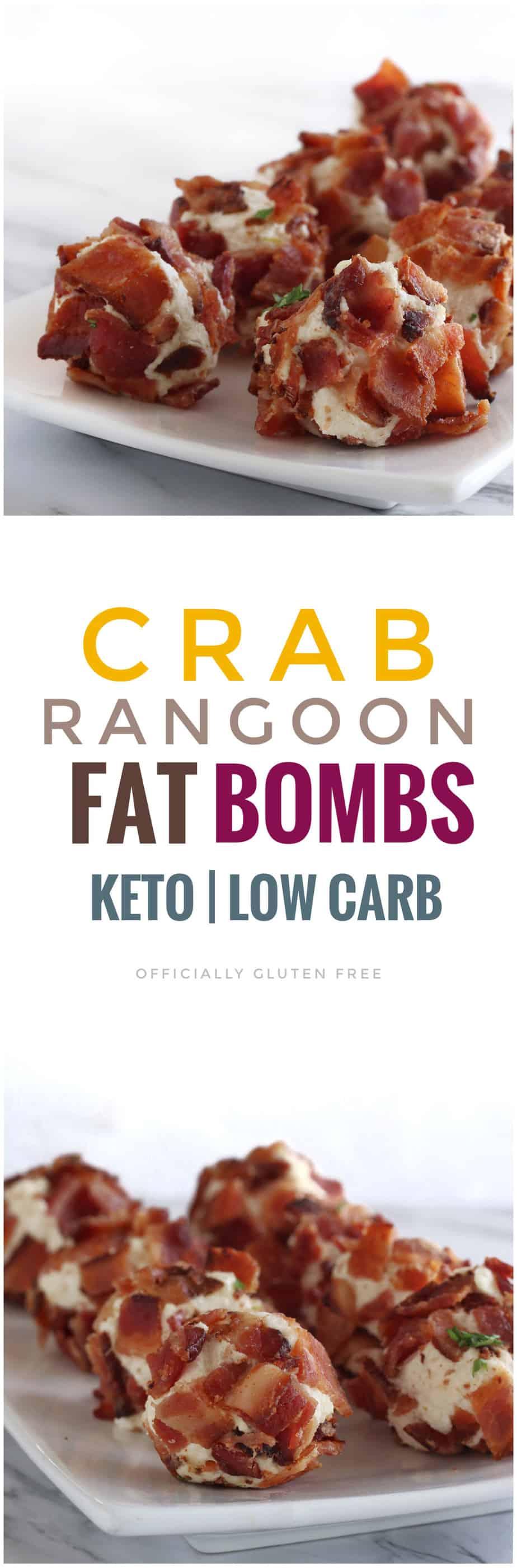 Keto Bacon Crab Rangoon Fat Bombs