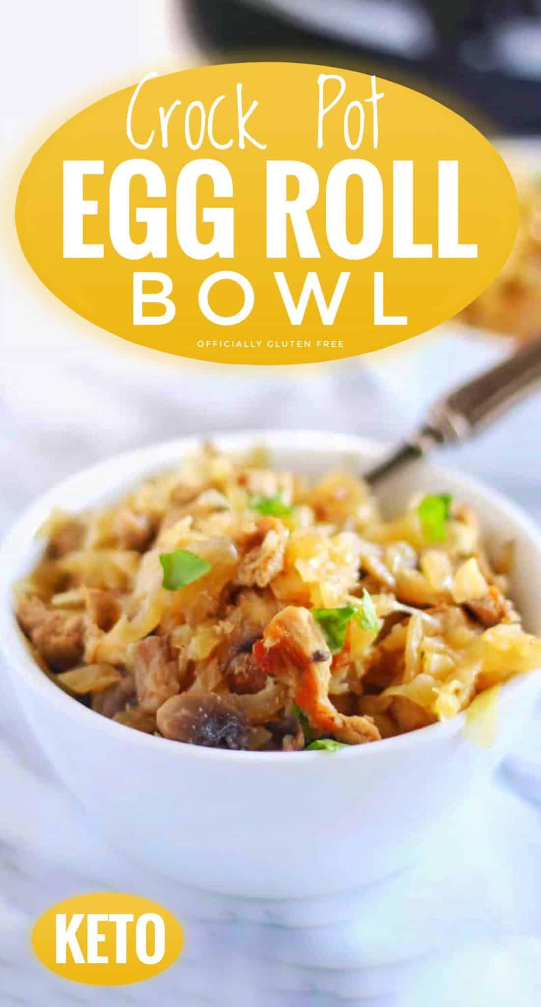Crock Pot Egg Roll Bowl