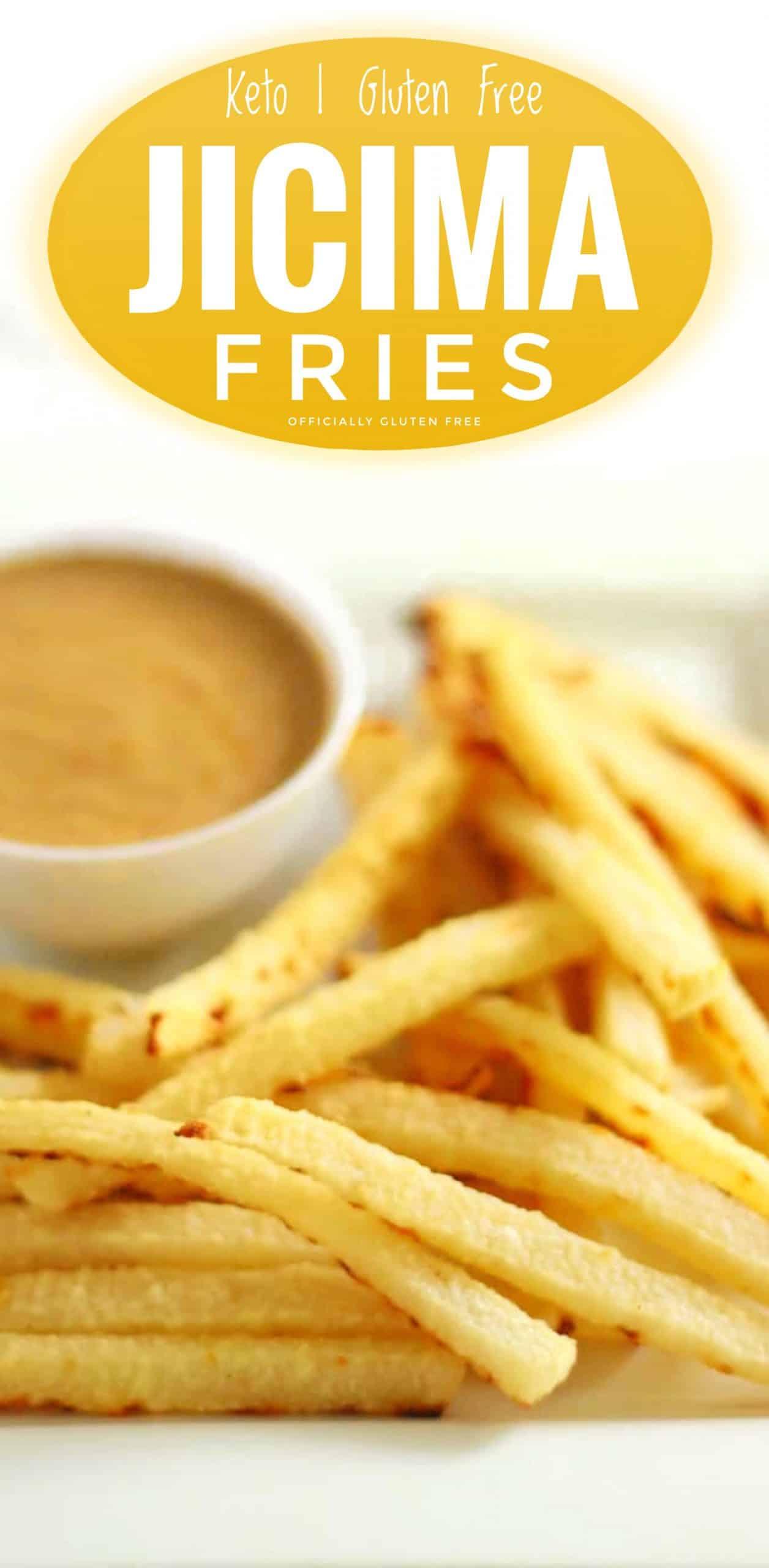 Baked Jicama Fries with Easy Keto Gravy