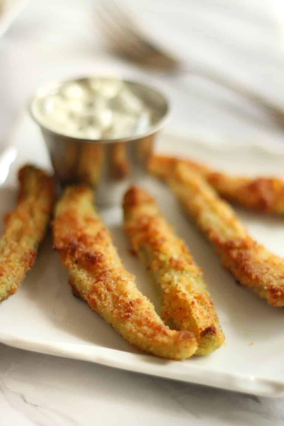 Keto Oven Fried Pickles