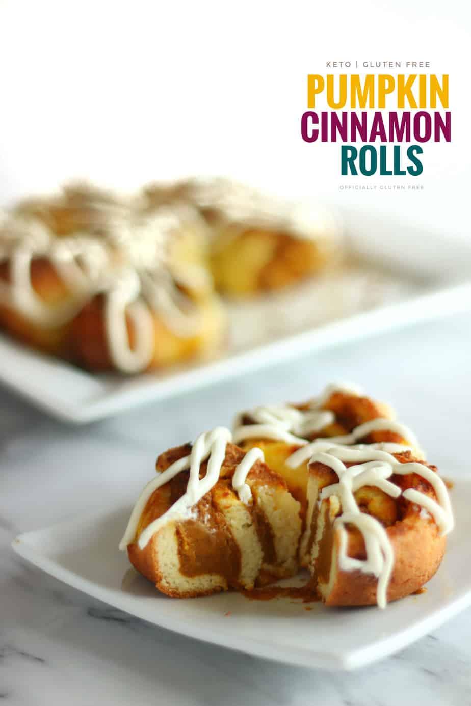 Keto Pumpkin Cinnamon Rolls