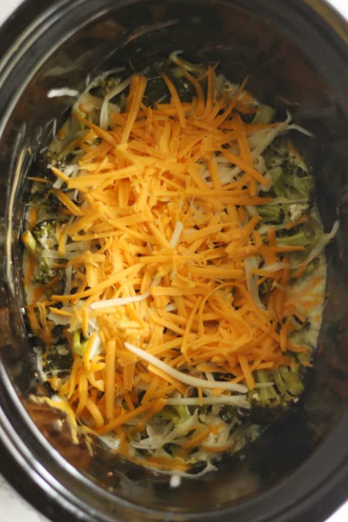 Keto Crockpot Broccoli Soup