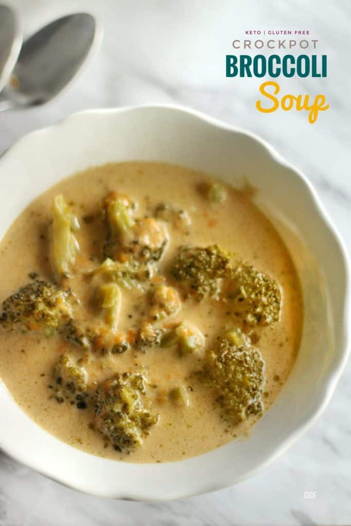 Keto Crockpot Broccoli Soup