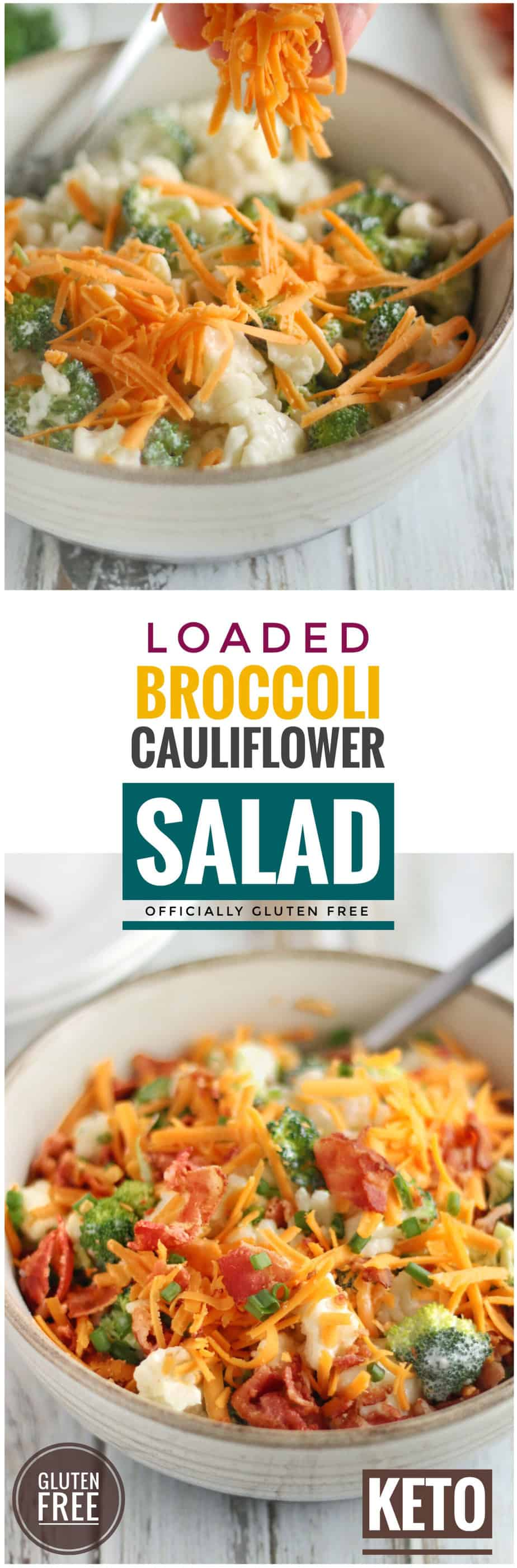 Loaded Broccoli Cauliflower Salad