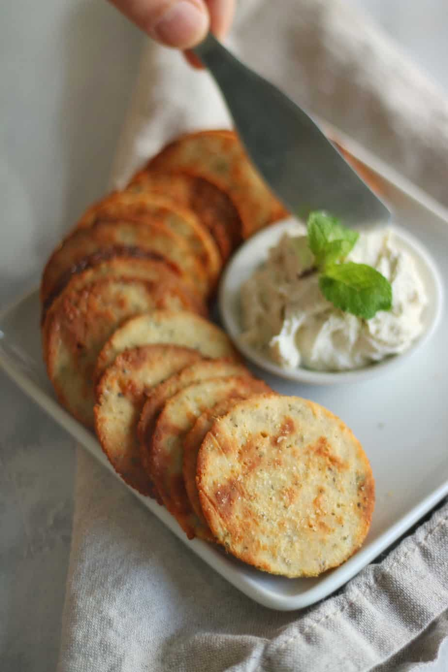 Keto Herb and Garlic Crackers