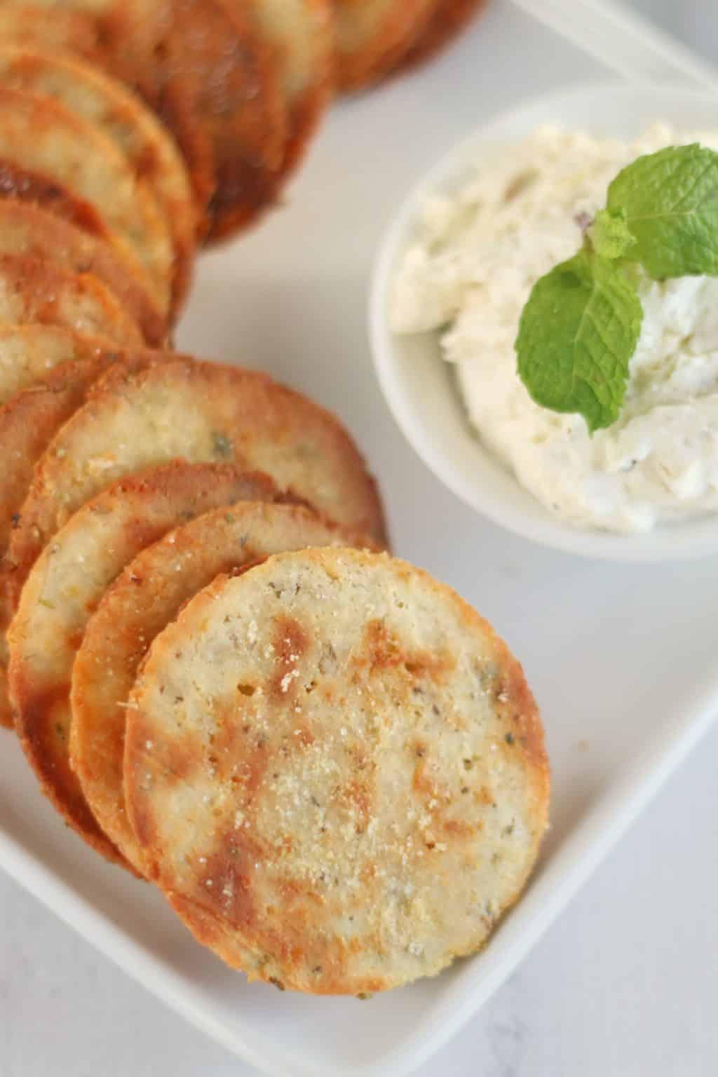 Keto Herb and Garlic Crackers