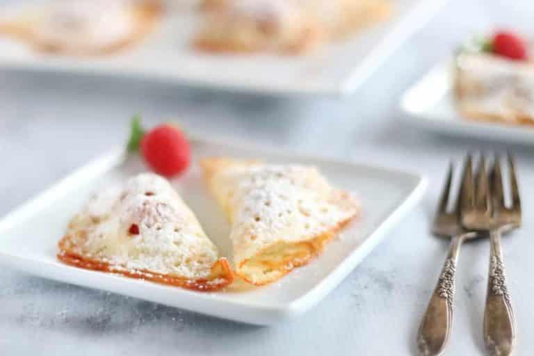 Keto Raspberry Cheese Turnovers