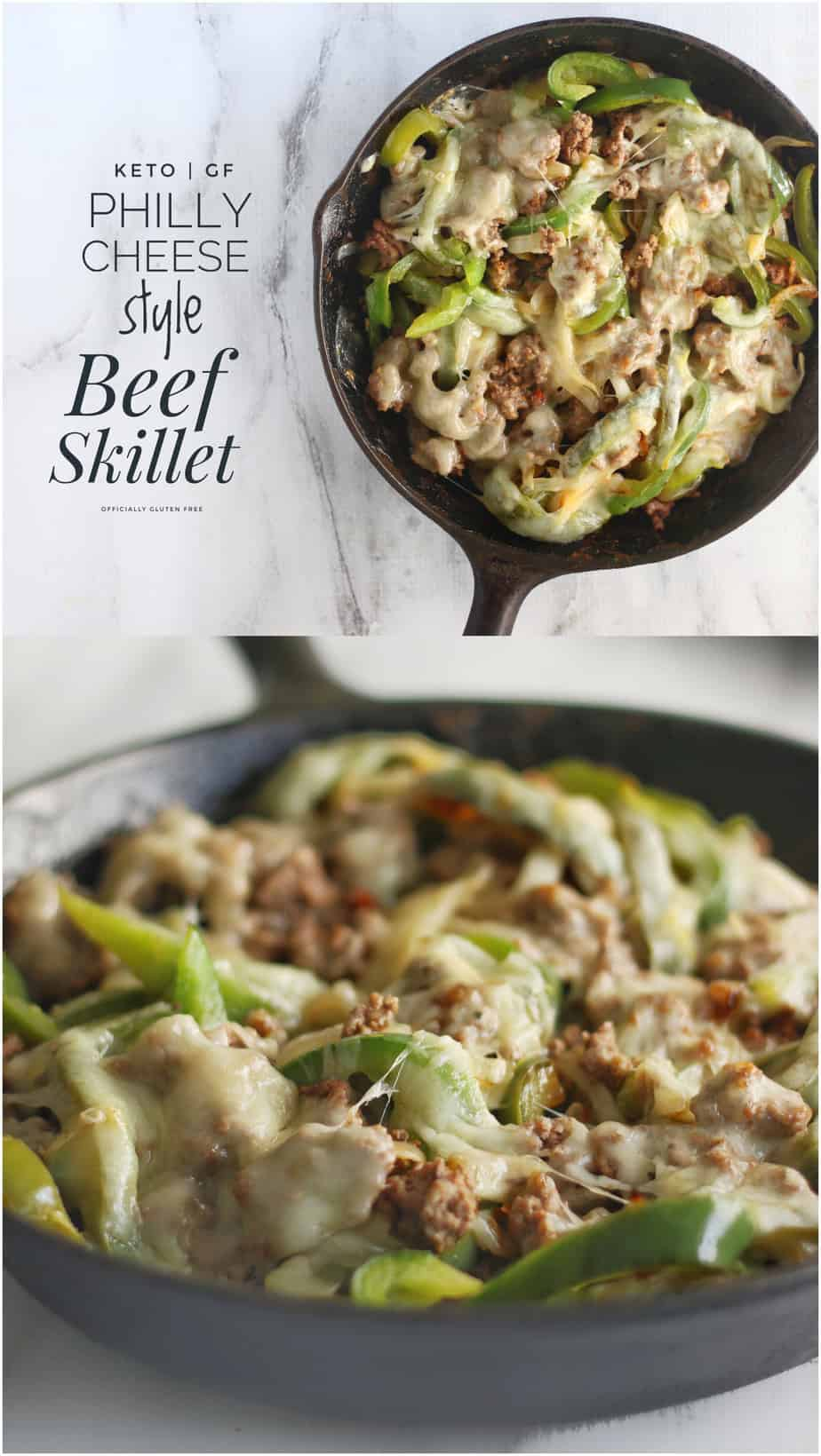 Philly Cheese Beef Skillet