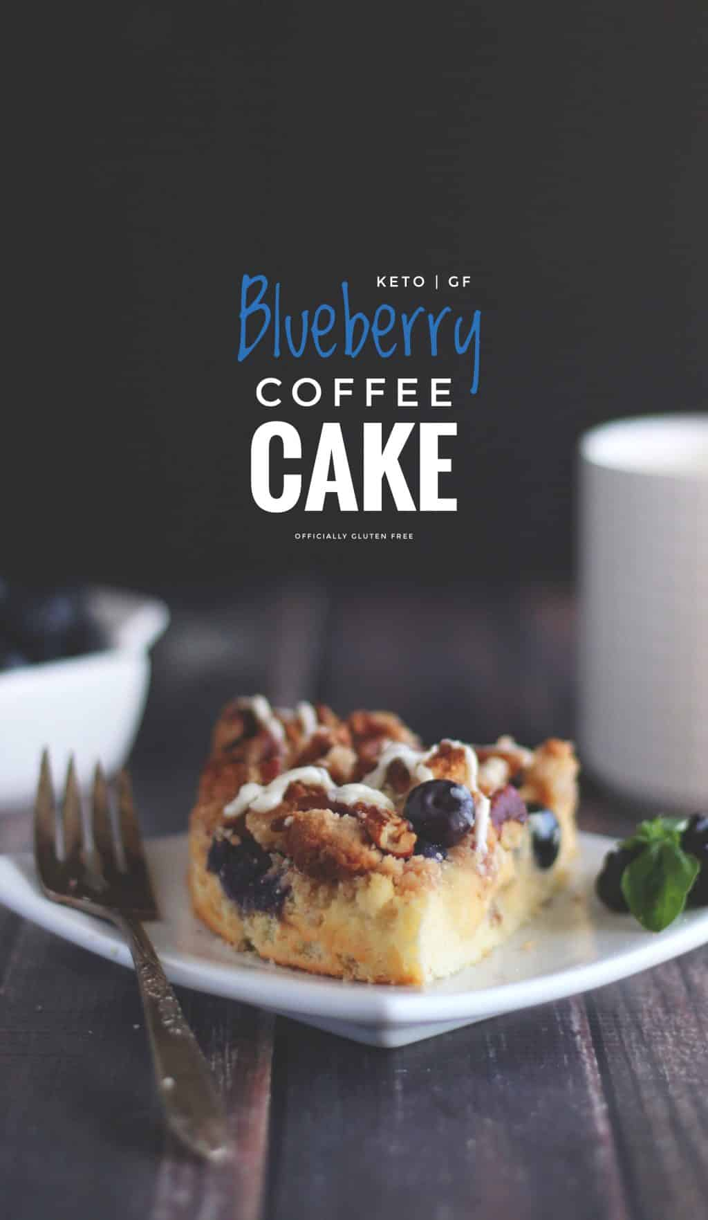 Keto Blueberry Pecan Coffee Cake