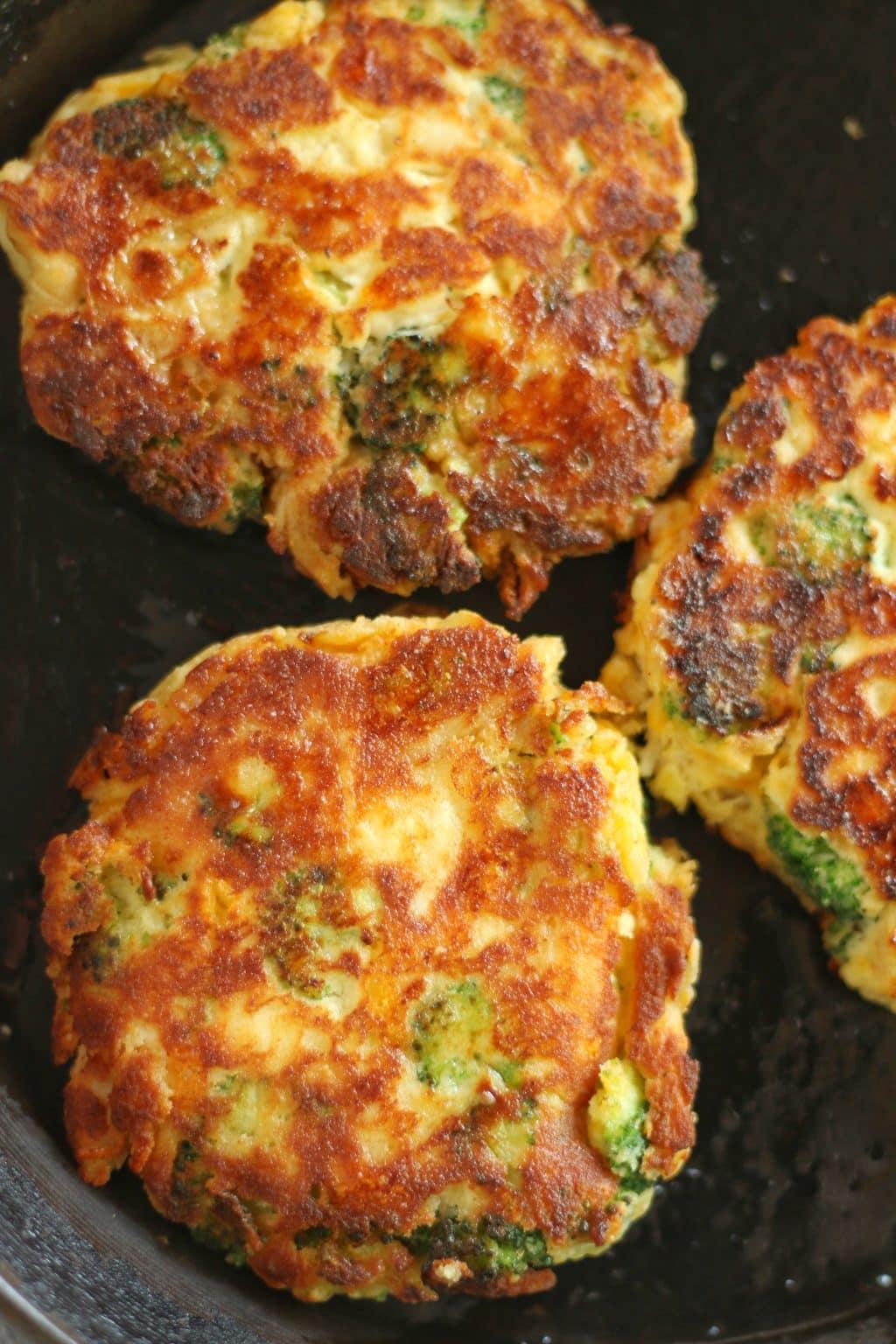 Keto Broccoli Chicken Fritters