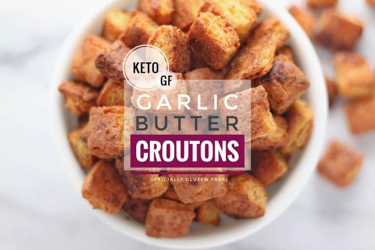 Keto Garlic Butter Croutons