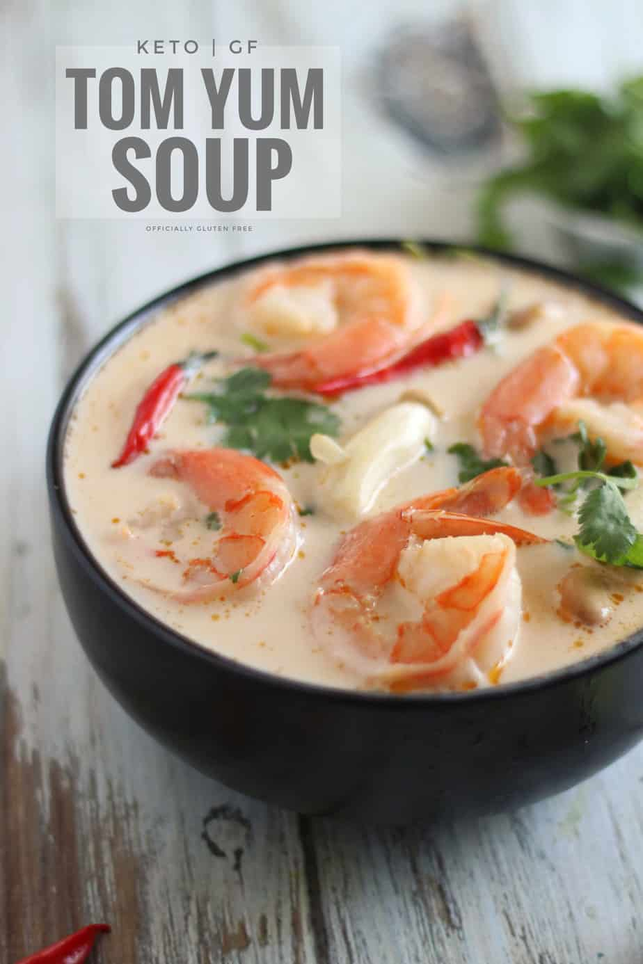 Keto Tom Yum Soup