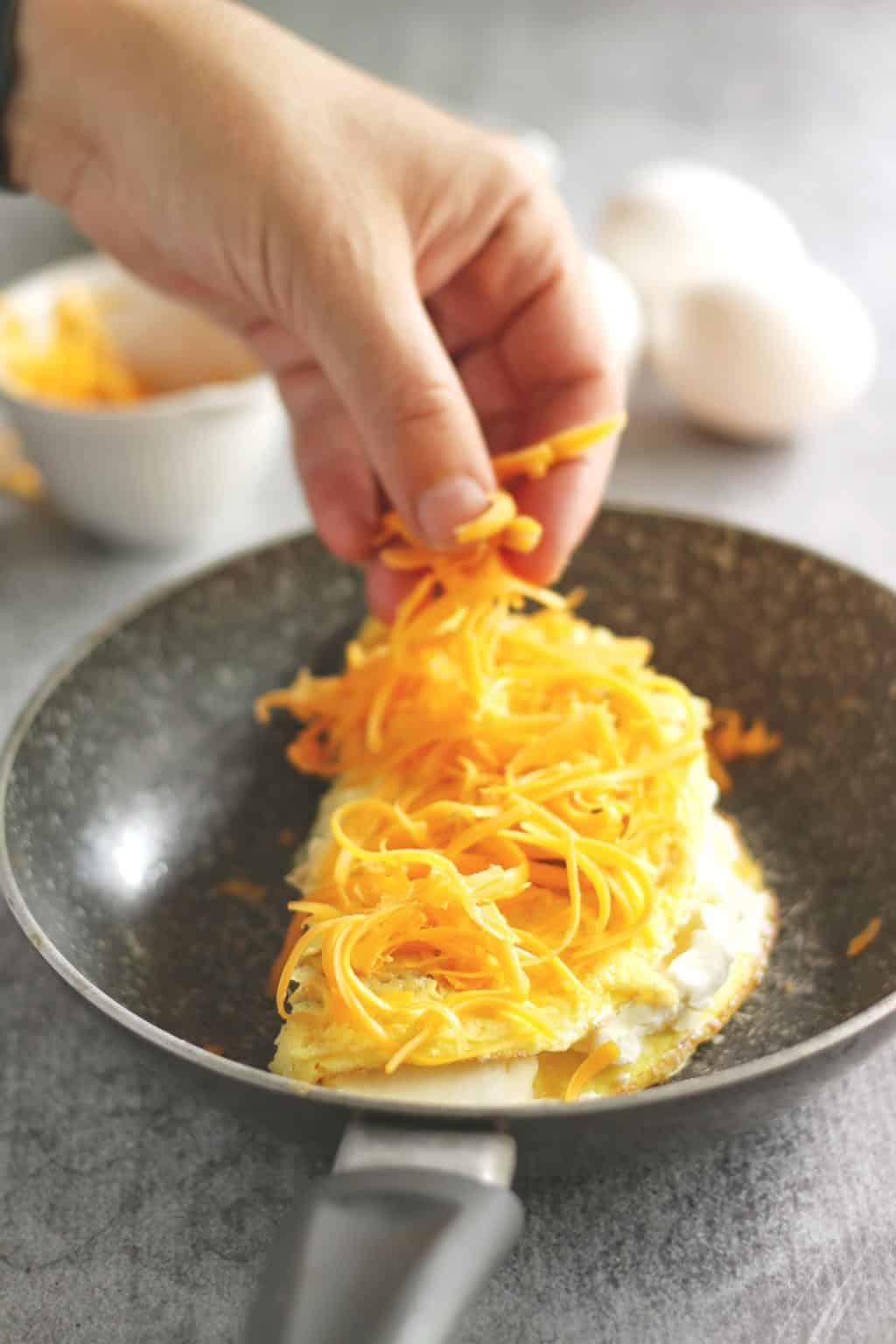 Jalapeño Cream Cheese Omelette
