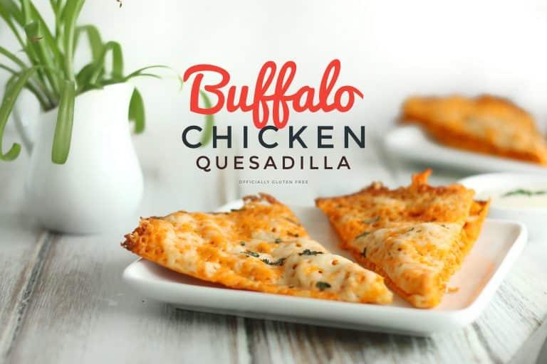 Keto Buffalo Chicken Quesadilla