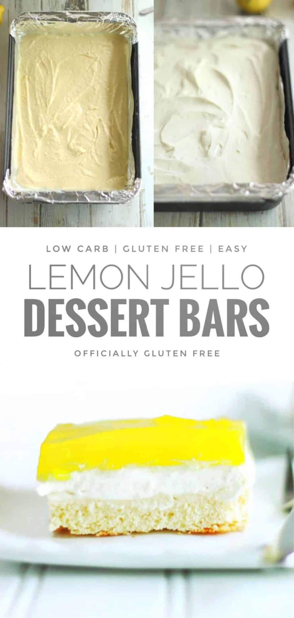 Lemon Jello Dessert Bars