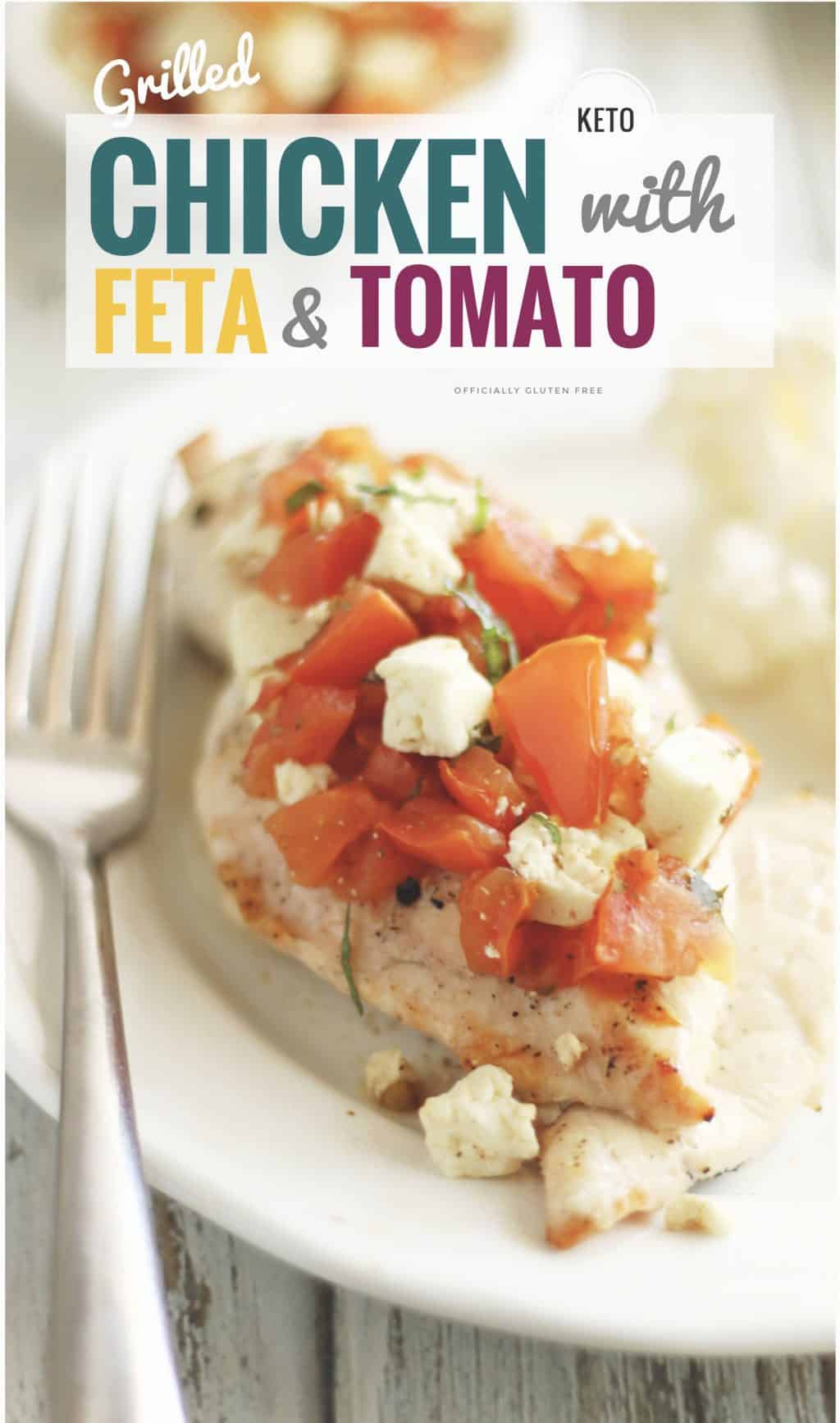 Grilled Chicken with Feta and Tomato