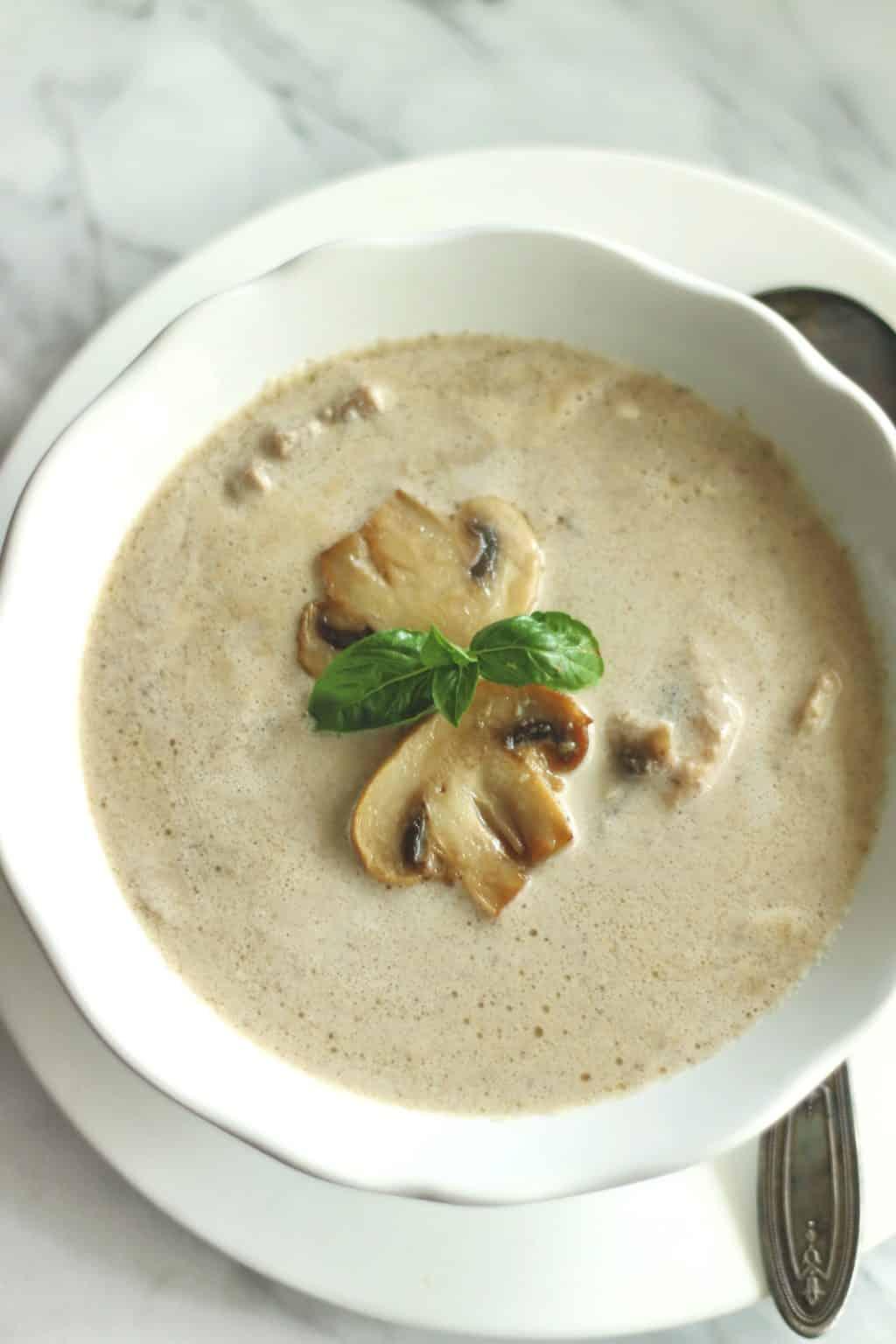 Creamy Keto Mushroom Soup