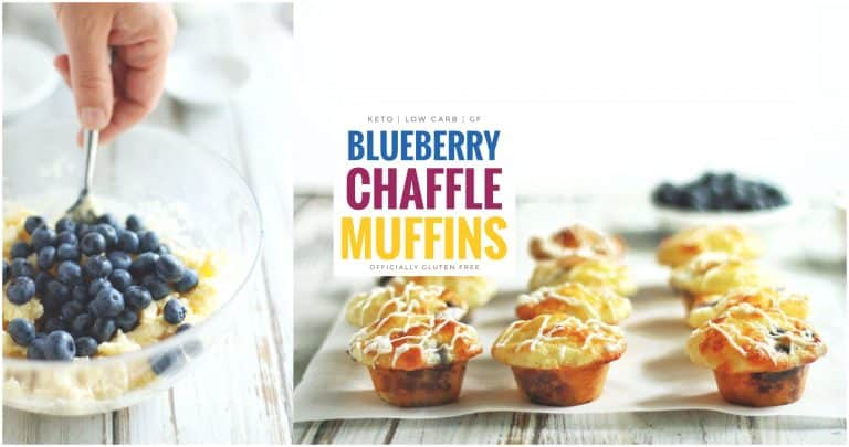 Keto Blueberry Chaffle Muffin Recipe