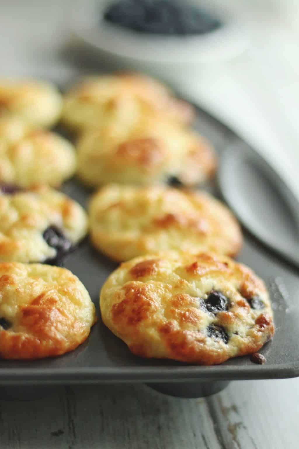 Keto Blueberry Chaffle Muffin Recipe