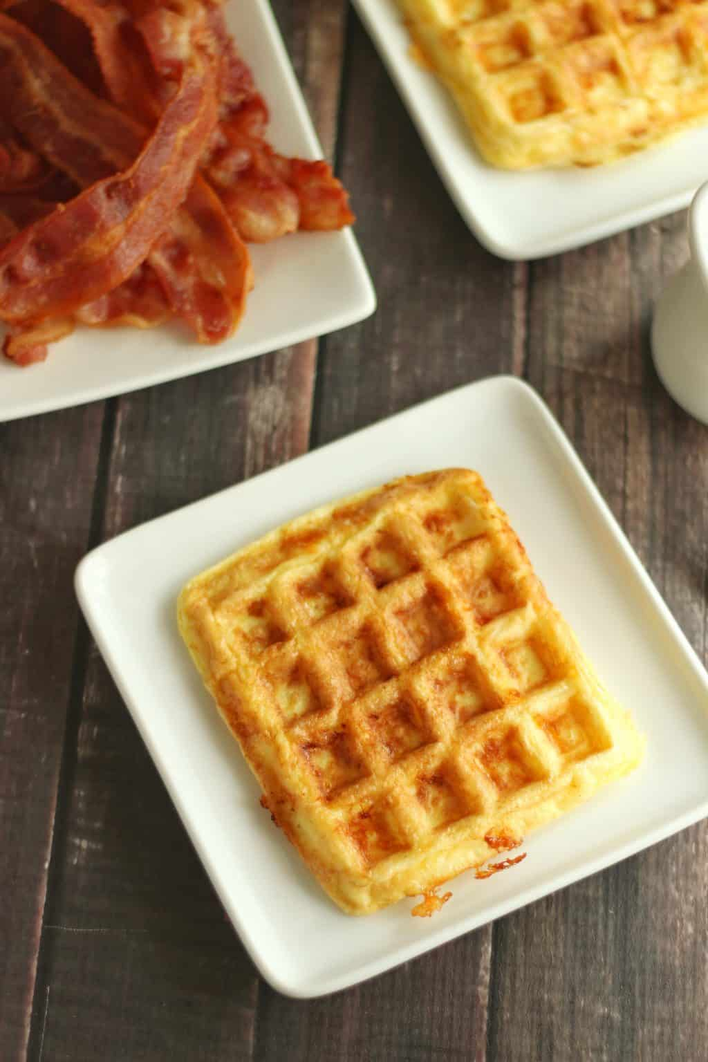 Keto Egg and Cheese Chaffle