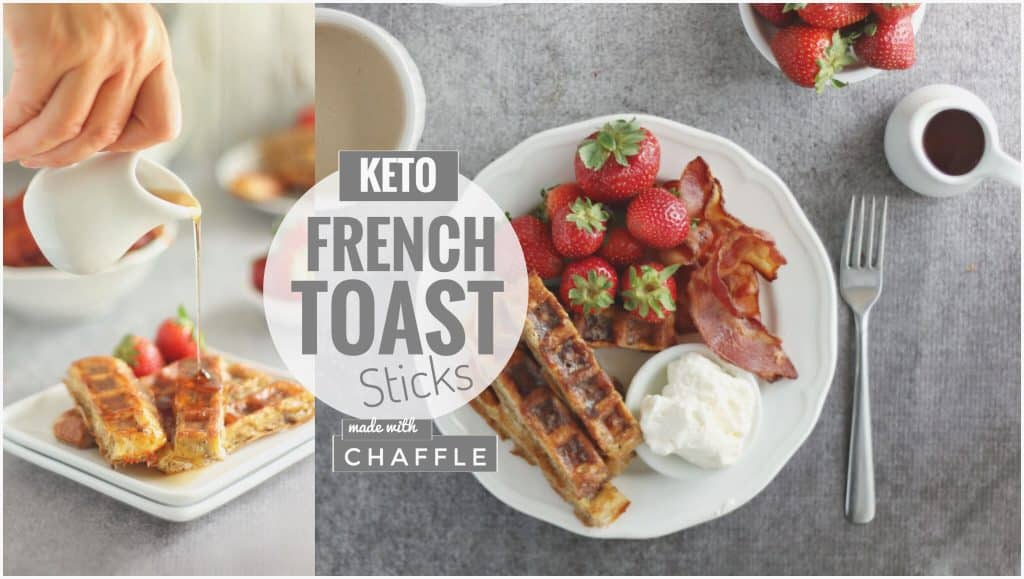Baked Chaffle French Toast Sticks