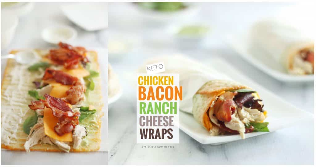 Keto Chicken Bacon Ranch Cheese Wraps