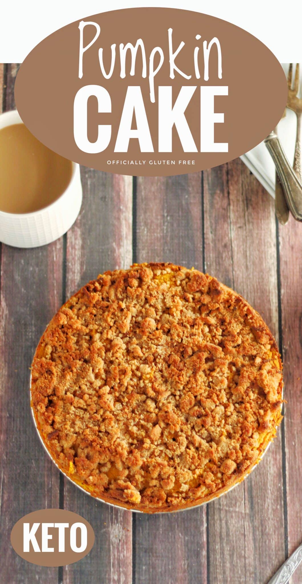 Keto Pumpkin Spice Coffee Cake