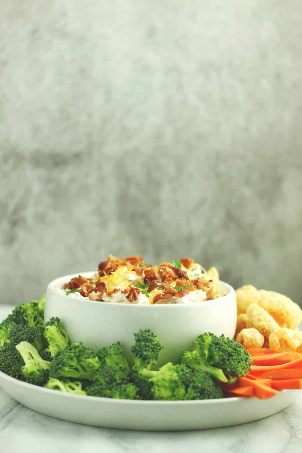 Keto Cheddar Bacon Crack Dip