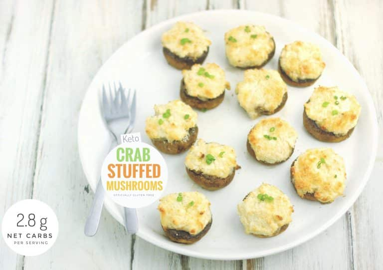 Keto Crab Stuffed Mushrooms