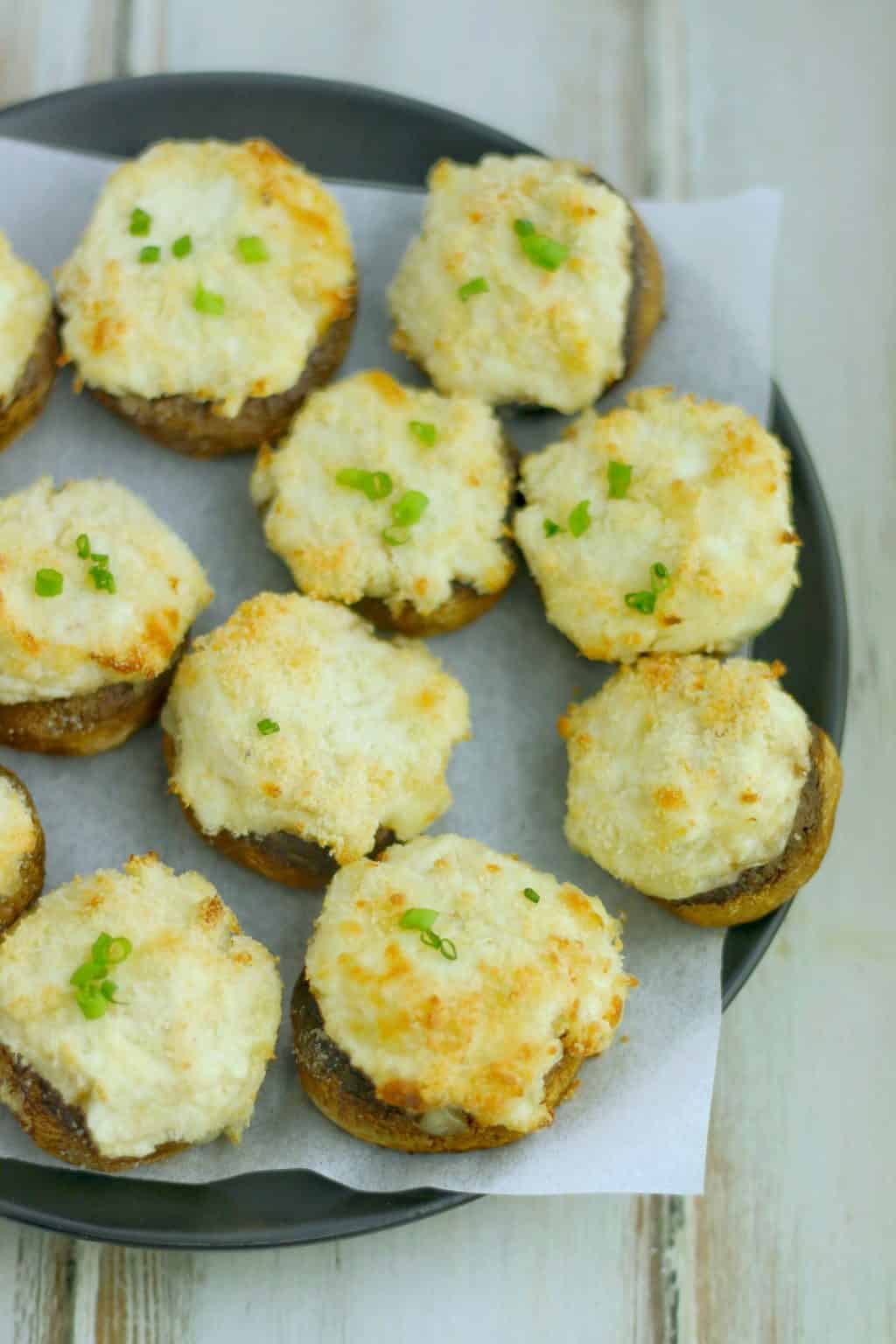Keto Crab Stuffed Mushrooms
