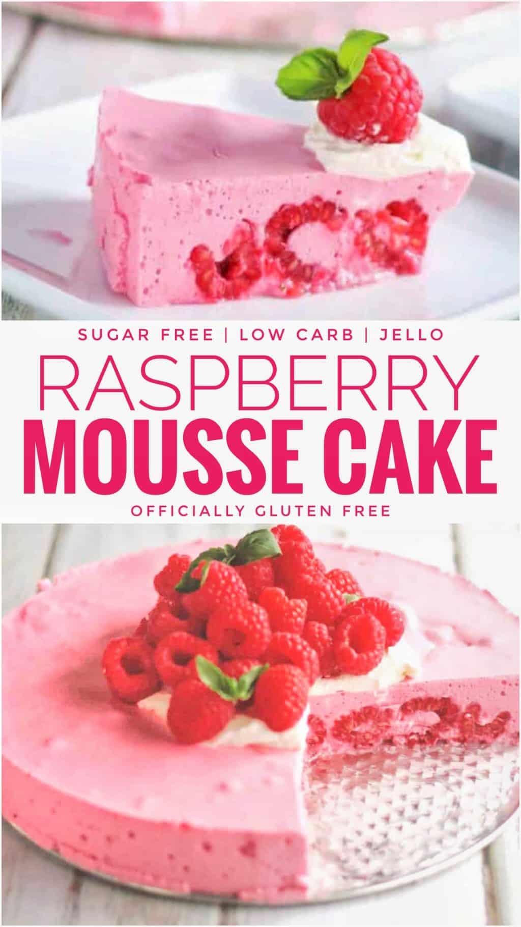 Sugar Free Raspberry Mousse Cake