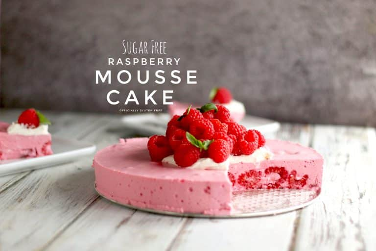 Sugar Free Raspberry Mousse Cake