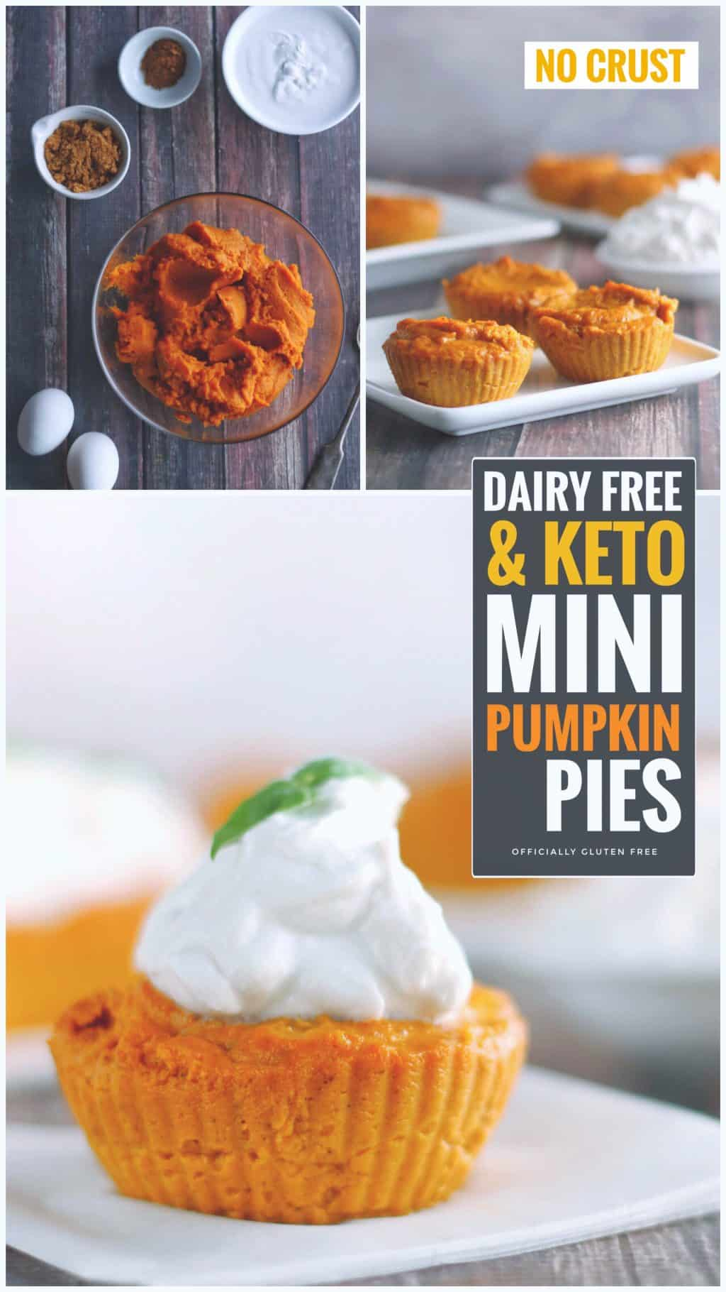Keto and Dairy Free Mini Pumpkin Pies {No Crust}