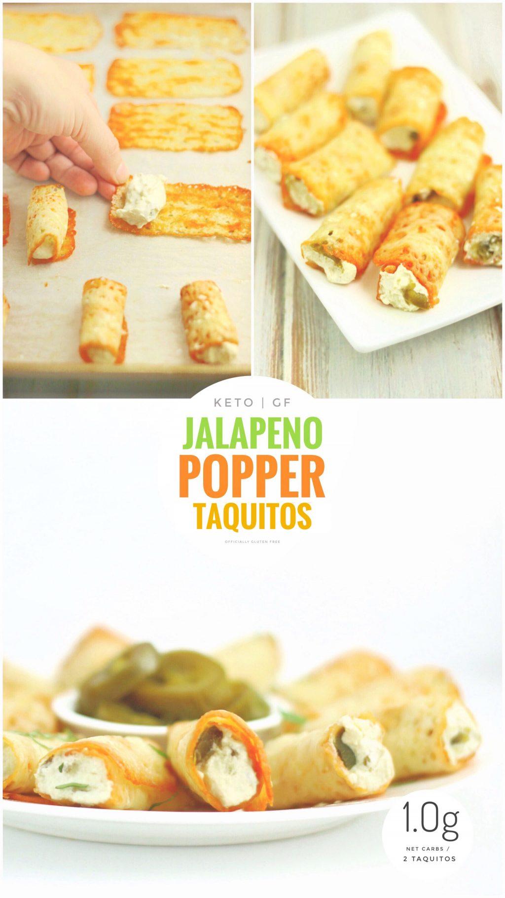 Keto Jalapeño Popper Taquitos