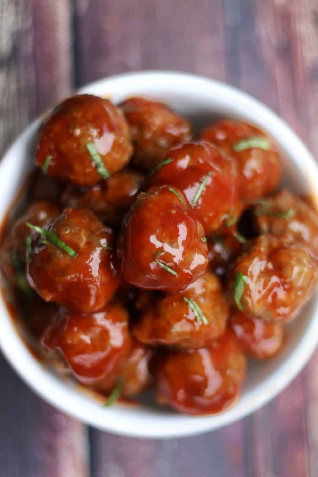 Keto Slow Cooker Sweet and Sour Meatballs