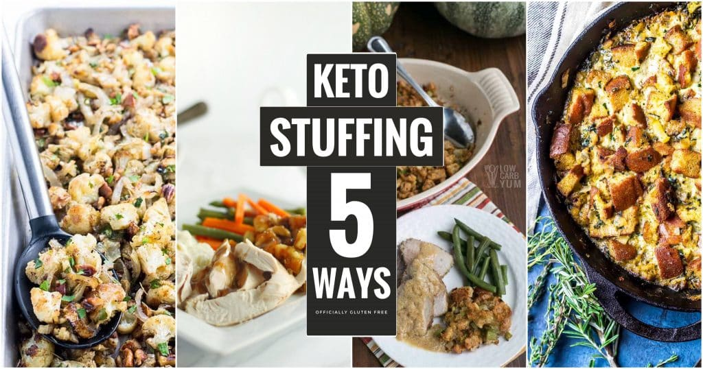 Keto Stuffing Made 5 Ways